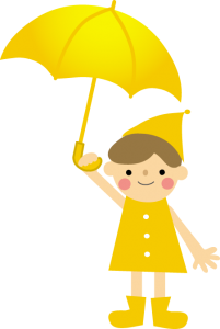 子どもと傘