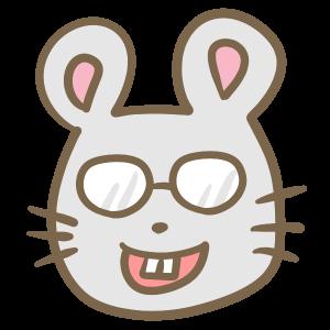 メガネをかけたネズミ