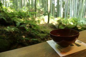 報国寺の抹茶休憩所