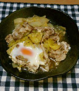 白菜と豚肉の煮付け