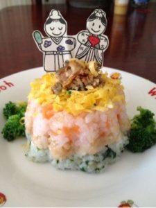 三色押し寿司
