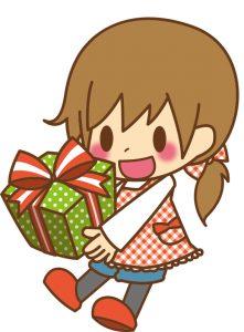 プレゼントをもらう子ども