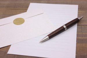 ボールペンと手紙