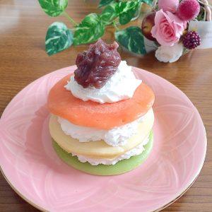 ひし餅風ケーキ