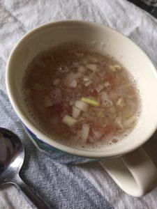 大根おろし梅のスープ