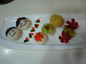 野菜で作る手まり寿司